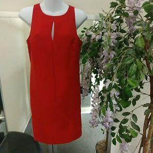 Calvin Klein Keyhole Slit Sleeveless Dress